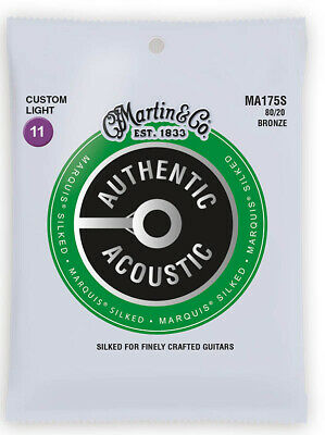 Martin Authentic Acoustic Marquis Silked Bronze Custom Light Guitar Strings
