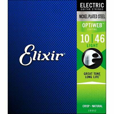 Elixir 19052 OPTIWEB Coated Electric Guitar Strings - Light - 10-46 - NEW!!! • 14.38£