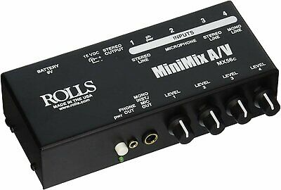 Rolls MiniMix A/V 4-Channel Battery-Powered Mixer - MX56C • 68.67£
