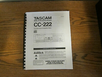 Owners Manual Operating For Tascam Cd Reel Cassette By Model BIN *1 Of 2* • 13.77£