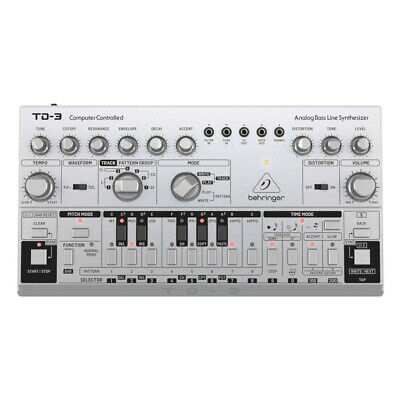 Behringer TD-3 Analogue Bass Line Synthesizer - Silver • 129£
