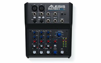 Alesis 4 Channel Mixer With Effects & USB Audio Interface - MULTIMIX 4 USB FX • 94.06£