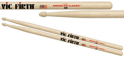 Vic Firth 5B American Classic (Hickory/Wood Tip) *GREAT VALUE* • 8.11£