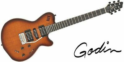 New Godin Guitar Xtsa Lightburst Flame *Nav494 • 1,368.17£
