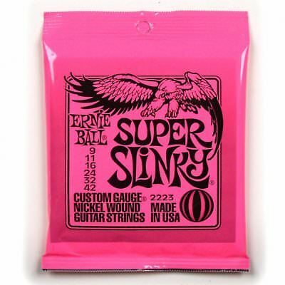 Ernie Ball 2223 Super Slinky Electric Guitar Strings 9-42 • 8.18£