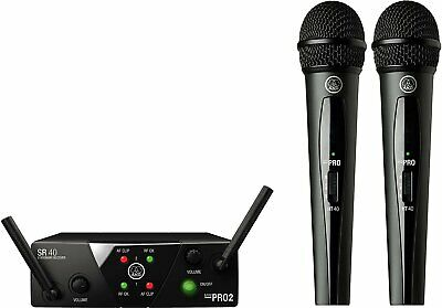 AKG WMS40 Mini Dual Vocal Microphone Set Band-US25-A/C - 3350X00050 • 141.25£