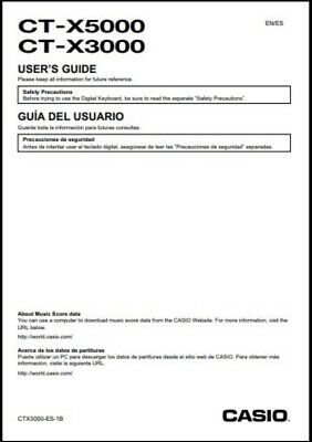 Casio CT-X5000 / CT-X3000 Keyboard Owner's Manual -- Users Guide • 14.80£