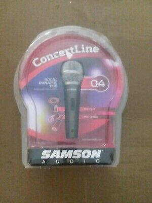 Samson Q4 CL Dynamic Cable Consumer Microphone BRAND NEW IN PACKAGE • 11.64£