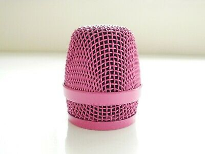 1 X PINK SENNHEISER  REPLACEMENT MICROPHONE GRILL HEAD FOR E845 & E845s , E855 • 15.50£