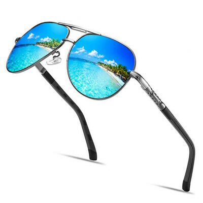 AluminiumPolarized Photochromic Sunglasses Chameleon Pilot Men Driving Eyewear • 7.59£