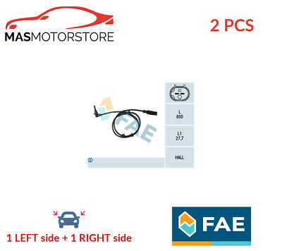 Abs Wheel Speed Sensor Pair Front Fae 78112 2pcs P New Oe Replacement • 50.95£