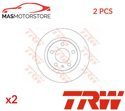 Brake Discs Set Braking Pair Rear Trw Df6339 2pcs G New Oe Replacement • 77.95£