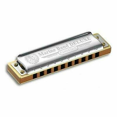Matthias Hohner Marine Band Deluxe Harmonica in Key of D  BRAND NEW AND BOXED