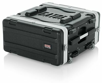 Gator Molded PE 4U 19.25 Inch Rack Case With Front / Rear Rails / Pull Handle... • 180.30£