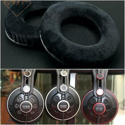 Thick Velour Velvet Ear Pads Cushion For Superlux HD681 HD681B HD681F Headphones • 11.45£