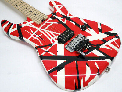 New Evh Striped Series Red With Black Stripes *Ebw610 • 1,390.06£