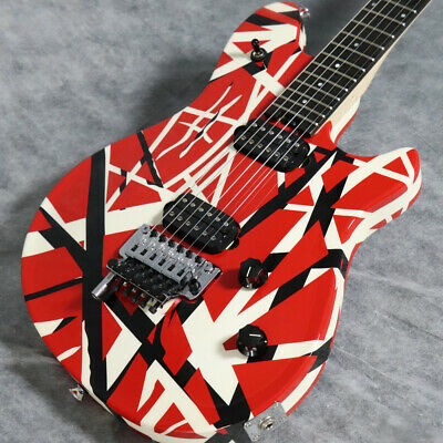New Evh Wolfgang Special Ebony Fingerboard Red Black And White Stripes *Oeu738 • 1,787.02£
