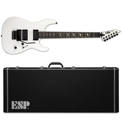 ESP LTD M-1000 E Ebony Snow White SW Electric Guitar + Hard Case • 875.11£