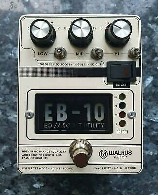 Walrus Audio EB-10 Preamp, EQ & Boost Guitar And Bass Guitar Pedal In Cream • 170£