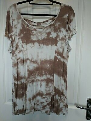 Womens Plus Size Top,dye Tied,, 22/24 In VGC,by E.,,bow Back,looks Fab On, • 3.49£