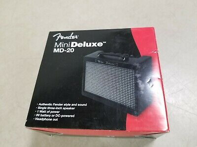 Fender Mini Deluxe MD-20 Travel Portable Electric Guitar Amplifier Amp • 20.70£