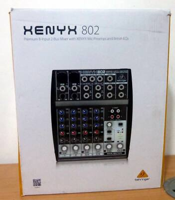 Behringer XENYX 802 8-Input 2-Bus Mixer - XENYX Mic Preamps And British EQ's • 49.99£