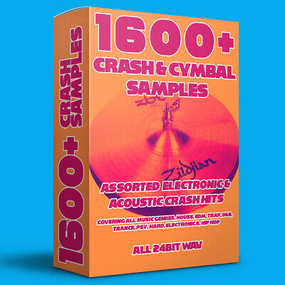 1600+ Crash & Cymbal Samples (All Genres, AKAI, MPC, Live, FL Studio, Logic+) • 4.99£