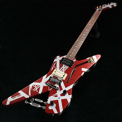 Evh Striped Series Shark Burgundy With Silver Stripes Kwe1900897 Guitar *Dwj939 • 1,813.52£