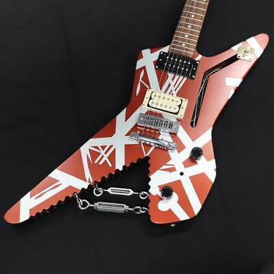 EVH Striped Series Shark Pau Ferro Fingerboard Burgundy With Silver Stripes • 1,902.68£