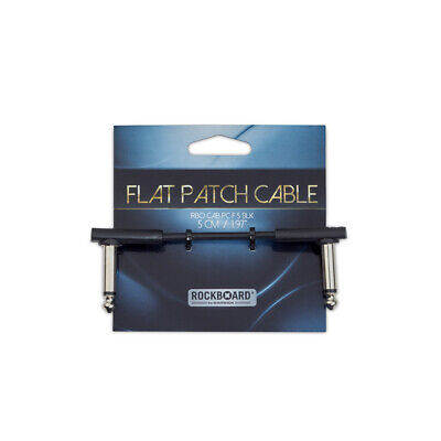New RockBoard Flat Patch Cables Black Series 5cm (2 ) Multiple Quantities • 8.52£
