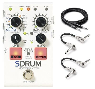 New Digitech SDrum Strummable Drums Pedal W/Power And Hosa Cables • 129.21£