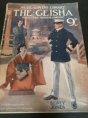 The Music Lovers Library No. 54: The Geisha by Sidney Jones 1896 Sheet Music