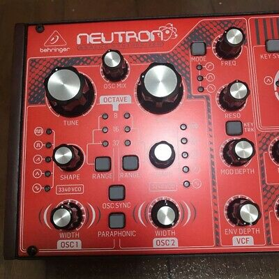 Behringer Neutron Paraphonic Analogue And Semi-Modular Synthesizer Red • 340.41£