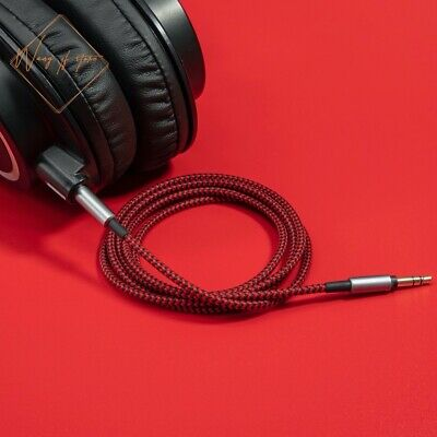 Black Red Audio Cable For Audio Technica ATH M50x M40x M70x M60X Headphone • 11.72£