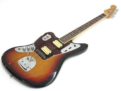 Fender Kurt Cobain Jaguar LH Lefty Electric Bass Used Free Shipping Sunburst • 1,611.29£