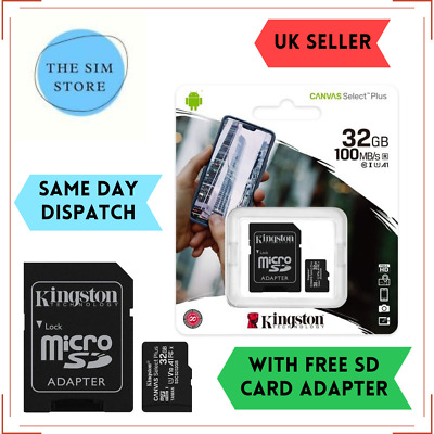 32GB Micro SD Memory Card For ZOOM H1n,H2n,H4n Pro,H5,H6,H3-VR Handy Recorder • 5.95£