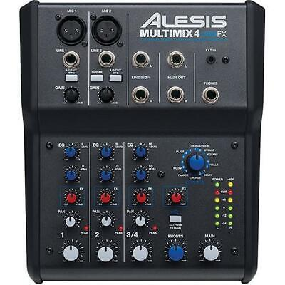 Alesis MULTIMIX 4 USB FX 4-Channel Mixer And USB Audio Interface *GREAT VALUE* • 79.28£
