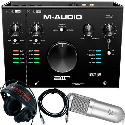 Home Recording M-Audio Air 192-8 Pro-Tools First + Mic + Cable + Headphones • 178.50£