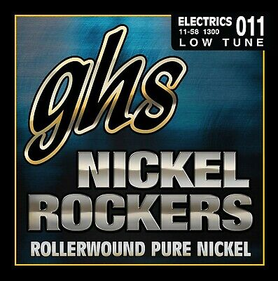 GHS NICKEL ROCKERS Rollerwound String Set For Electric Guitar - Low Tune - 13... • 31.35£