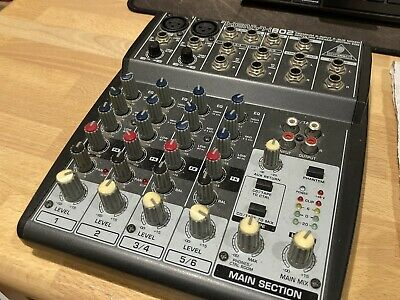 Behringer XENYX 802 8-Input 2-Bus Mixer - XENYX Mic Preamps And British EQs • 35£