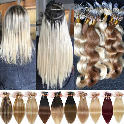 150g Hidden Micro Loop Ring Remy Human Hair Extensions Nano Beads Blonde White A • 109.56£