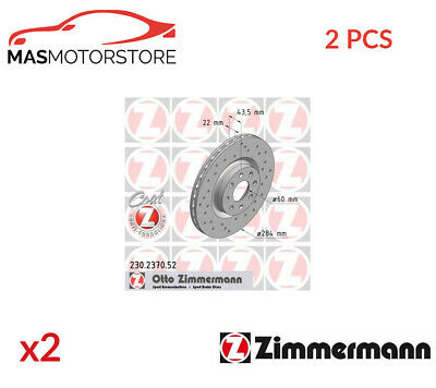 Brake Discs Set Braking Pair Front Zimmermann 230237052 2pcs P New • 193.95£