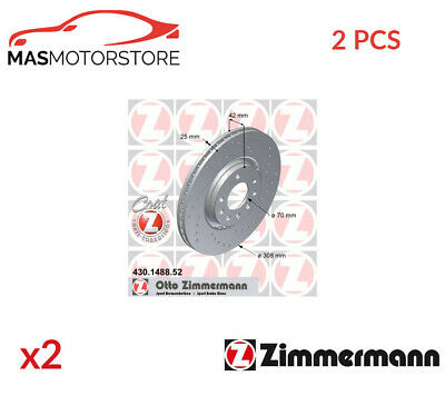 Brake Discs Set Braking Pair Front Zimmermann 430148852 2pcs P New • 201.95£