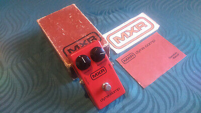 Vintage MXR DynaComp Effect Pedal -->Block Logo - Unmarked - Boxed - Manual <-- • 179.99£