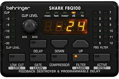 Behringer FBQ100 Automatic Feedback Destroyer, Delay, Gate, Compressor, Mic NEW • 143.34£