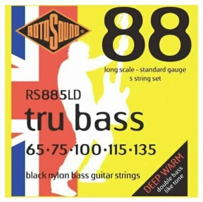 Rotosound RS885LD Black Nylon Flatwound Bass Guitar Strings - 5 Strings • 43.41£