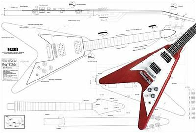 Gibson 67' Flying V® Full scale Electric Guitar Plan