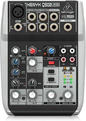 Premium 5 Input 2 Bus Mixer With XENYX Mic Preamp/Compressor/British EQ And • 58.10£