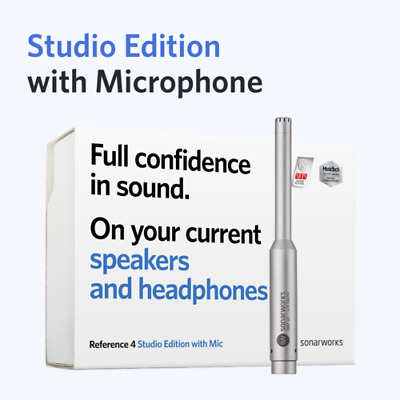 Sonarworks Reference 4 Studio Edition W/ XREF20 Measurement Mic *GREAT VALUE* • 222.04£