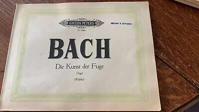 J.S. Bach The Art Of Fugue ed. Helmut Walcha 1967 Soft Cover Edition Peters